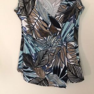 Cache Tops - Cache Topical print sleeveless top